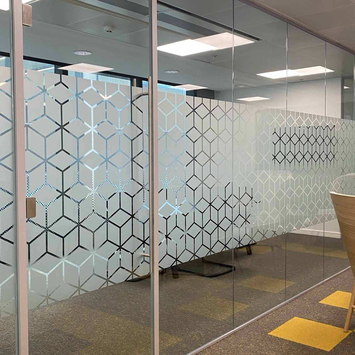 patterned glass graphics